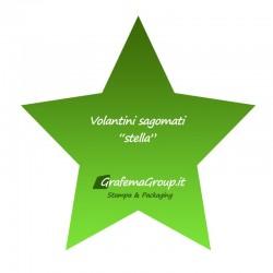 """Volantini sagomati """"stella"""""""
