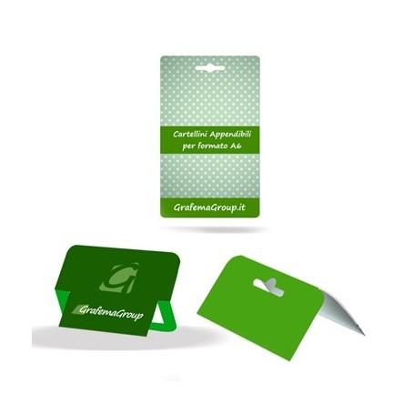Cartellini con sagoma personalizzata, cartellini fustellati